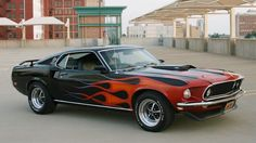 1969 Mustang With flames.