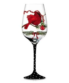 Take a look at this A Peaceful Christmas Hand-Painted Wine Glass by Cypress Home on #zulily today!