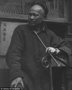 Genthe captured local men and life on the street in Chinatown...