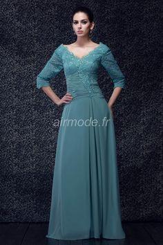 fournitures de airmode.frphysique élégant et luxueux décolleté en v ferme longue robe en  Robes Des Mères de Mariage Nouveauté