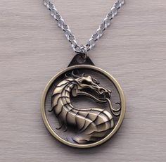 Mortal Kombat Dragon Necklace