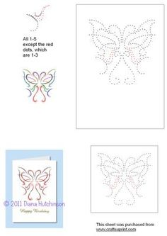 Flight of Fancy on Craftsuprint designed by Diana Hutchinson - A whimsical butterfly for this stitching pattern in two sizes. - Now available for download!