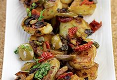 Lyonnaise Potatoes with Green Olives and Sun-Dried Tomatoes Recipe - Oprah.com