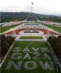 Cambera, Australia, in front ot the Parliament House. But not even mentioned in their media!
