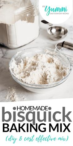 Homemade Dry Baking Mix (DIY Bisquick) is less expensive and better for you! Make homemade biscuits, pancakes, muffins, cakes, and more! Bisquick Mix Recipe, Bisquick Recipes, Homemade Dry Mixes, Homemade Seasonings, Homemade Gifts, Low Carb Cupcakes, Homemade Biscuits, Bisquick Homemade, Biscuit Mix