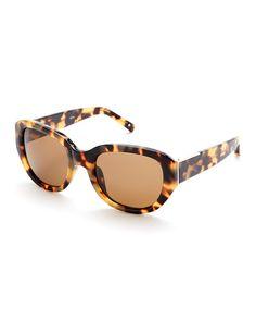 3.1 Phillip Lim X Linda Farrow Tortoiseshell-Look PL101 Angular Sunglasses
