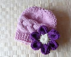 Baby Girl Hats Photo Prop Hat Newborn Girl Hat Knit by Ifonka, $19.50