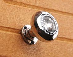Black Glass Knobs / Dresser Knobs / Drawer Knobs by LynnsHardware