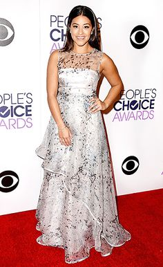 Gina Rodriguez at the 2015 People's Choice Awards.