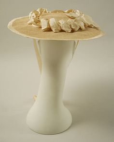 ca. 1760 British raffia, silk hat; Met 1984.140
