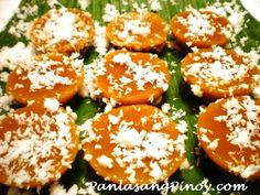 """Kutsinta or kuchinta or even brown rice cake is a type of """"kakanin"""" that uses lye water as an ingredient. Kutsinta is somewhat sticky yet chewey (thats what lye water does) at the same time and is best eaten with grated coconut on top. This kutsinta recipe requires minimum effort and the procedures are so easy to follow. If your thinking of ma"""