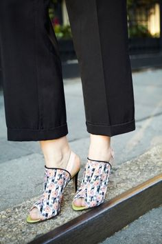 SUNO Street Style Spring 2014 Fashion Week: Christene Barberich, editor-in-chief of Refinery 29 in Nicholas Kirkwood for SUNO shoes