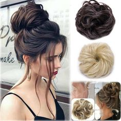 Hairstyles with extensions Details about 2019 New Synthetic Curly Hair Extensions Hairpiece Bun Updo Scrunchie Pony Tail 2019 New Synthetic Curly Hair Extensions Haarteil Bun Updo Scrunchie Pferdeschwanz Curly Hair Styles, Medium Hair Styles, Natural Hair Styles, Natural Beauty, Bun Hair Piece, Hair Pieces, Easy Hairstyles, Wedding Hairstyles, Brides Hairstyles Updo