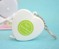 Personalized Key to My Heart Key Chain ... Also a tape measure
