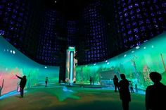 Immersive Waterfall Installations - This Unique Exhibit is Designed for Visitor Interaction