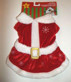 Dog Outfit Christmas Santa Small Pet Santa Claus dress costume New #PetsFirst