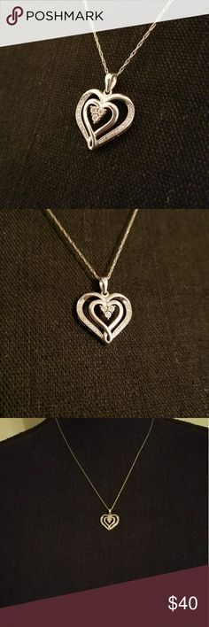 Authentic Diamond Heart♥ Necklace ♥ Heart necklace with real diamonds. Jewelry Necklaces