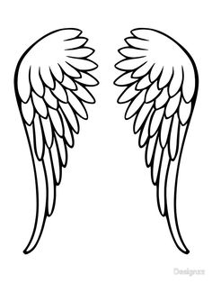 angel wings stock illustrations 4840 angel wings clip art images rh pinterest com angel wing clip art for cricut cutout angel wing clip art for cricut cutout