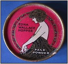 vintage..Face Powder Box