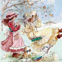 Holly Hobbie Calendario Tarjetas Cards Illustration IMÁGENES Art Illustration