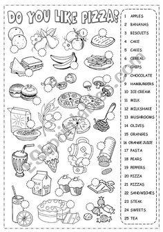 Resultado de imagen de fruits and vegetables worksheet