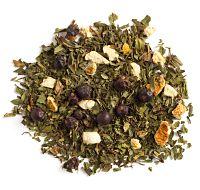 COLD 911 tea: peppermint, juniper berries & orange peel, with natural eucalyptus and orange oil. $7.75/50g in 2015.