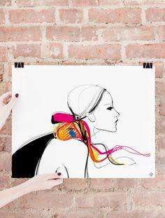 Illustration by famous fashion blogger Garance Doré. #art #drawing #illustration