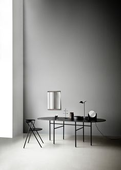An image for Studiopepe's table mirror for Menu but I love the furniture and all the accessories too. Perfection. I recognise the amazing Johan Forsman folding chair.