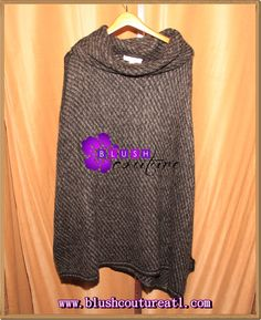 Wolf grey sweater (one size) $79.00  Blush Couture Atlanta