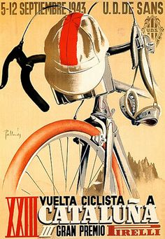 Vuelta a Cataluna 1943 cycling motivation, cycling posters, cycling, cycling quotes, classic cycling
