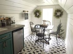 This sweet little coffee nook is perfect for rainy days like today. #magnoliahomes #maximizeyourspace