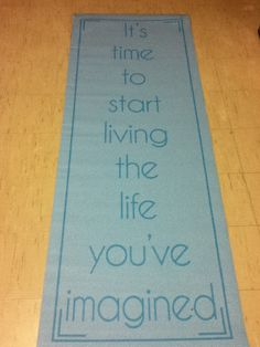 My new yoga mat...