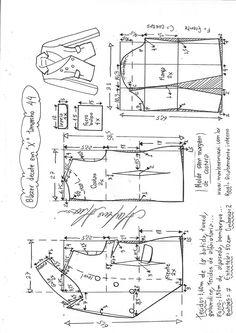 Blazer transpassado em X T Shirt Sewing Pattern, Blazer Pattern, Vogue Sewing Patterns, Pattern Drafting, Jacket Pattern, Bodice Pattern, Collar Pattern, Coat Patterns, Clothing Patterns