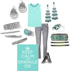 """""""lia sophia turquoise and silver"""" on Polyvore  Office to Evening, we got ya covered!  www.liasophia.com/twl"""