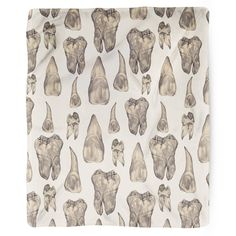 Show off this design on a high quality blanket in the comforts of your home! Teeth pattern designed by Deborah Ballinger. Our blankets are the softest throws around and they're the perfect accessory f