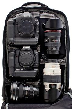 Think Tank  Shape Shifter® Camera Backpack http://www.thinktankphoto.com/products/shape-shifter-backpack.aspx