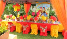 Bright & Beautiful Winnie the Pooh themed kiddies party by Co-Ords Kidz Party Boutique