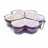 temp-tations® Floral Lace Heart-Shaped 3-qt. Trio Set
