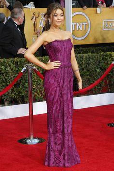 sarah Hyland in Dolce & Gabbana #Violet #dress.
