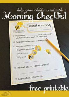 Is your morning hectic? Do you find that your children can't seem to function without you doing it all for them? It's time to teach some responsiblity and it all starts with this morning checklist. Free printable so come grab yours today.