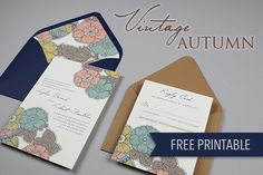Free printable wedding invitation template with envelope liner!! Love this!