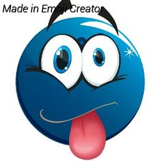 Its an emoji Android Emoji, Blue Emoji, Color Blue, Blue Green, Smileys, Emoticon, Funny Things, Disney Characters, Fictional Characters