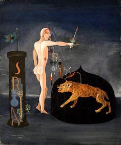 Victor Brauner Victor Brauner, Animal Symbolism, Art Archive, Zoology, Fantastic Art, Love Art, Oil On Canvas, Aurora Sleeping Beauty, Victoria