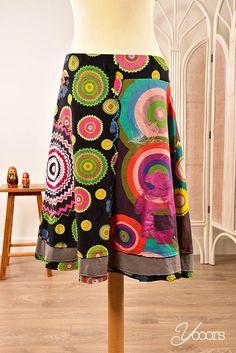 DESIGUAL rok, maat XL (Y161356) -- Aangeboden door yooors.nl ---- Vrolijke Desigual rok met het bekende kleurrijke patroon! Met elastieken band en koord.