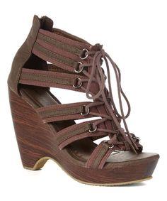 Another great find on #zulily! Brown Celine Sandal #zulilyfinds