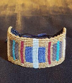 macrame  gold bracelet