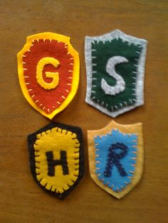 Harry Potter House Colors Badges Set of by HennyPennysJumble, $12.00