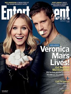 We did it Marshmallows! Veronica Lives! (And hopefully so does LoVe. ;) ) This Week's Cover: 'Veronica Mars' lives! | EW.com