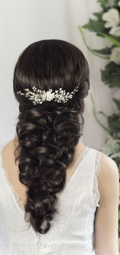 bridal hair comb, wedding hair comb, bridal headpiece by TopGracia