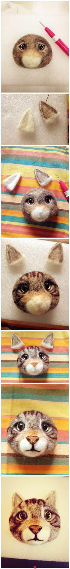 fieltro lana gato